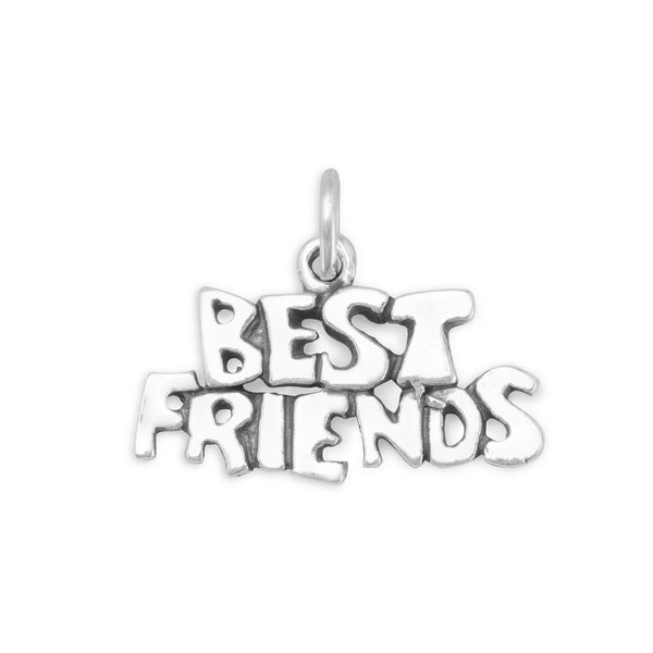 Best Friends Charm Sterling Silver - deelytes-com