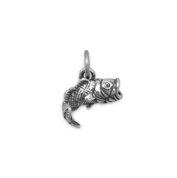 Large Mouth Bass Charm Sterling Silver - deelytes-com
