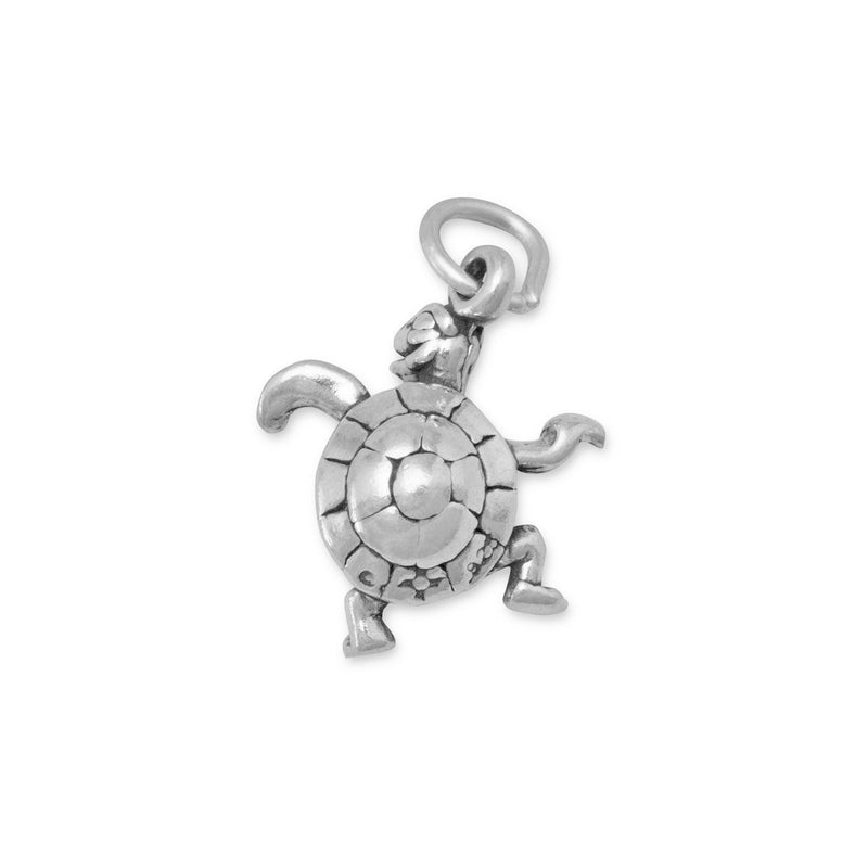 Small Turtle Sterling Silver Charm - deelytes-com