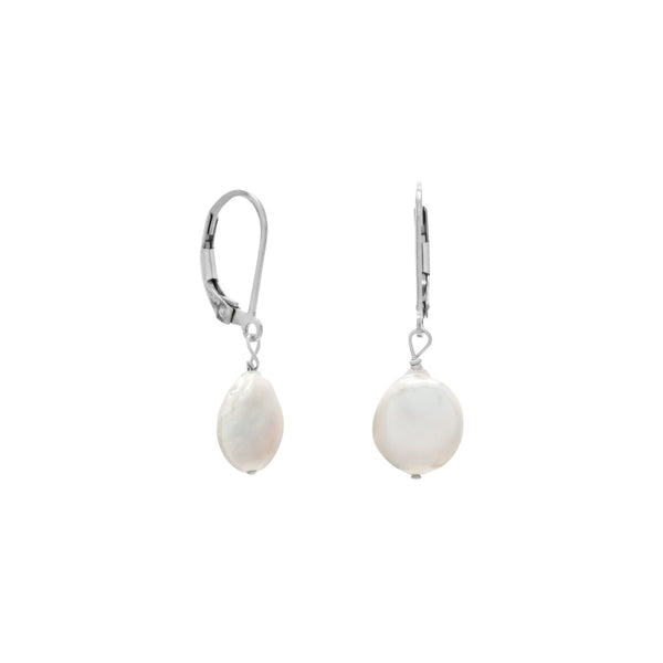 10mm Cultured Freshwater Pearl Sterling Silver Earrings - deelytes-com