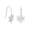Polished Sterling Silver CZ Snowflake French Wire Earrings - deelytes-com
