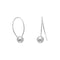 Sterling Silver Thin Wire Bead End Earrings - deelytes-com