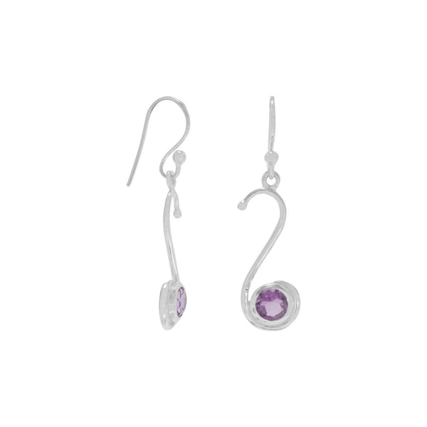 S Design Sterling Silver Amethyst Earrings - deelytes-com