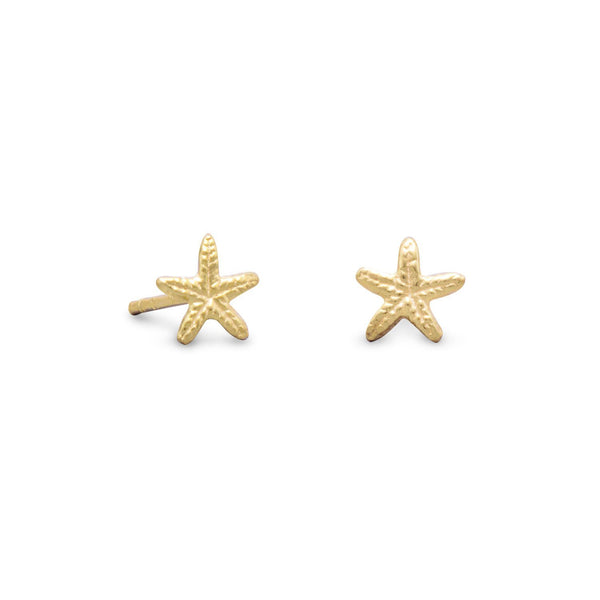 Gold Starfish Stud Earrings - deelytes-com