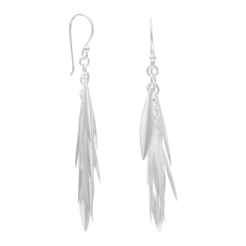 Marquise Cluster Drop Sterling Silver Earrings - deelytes-com