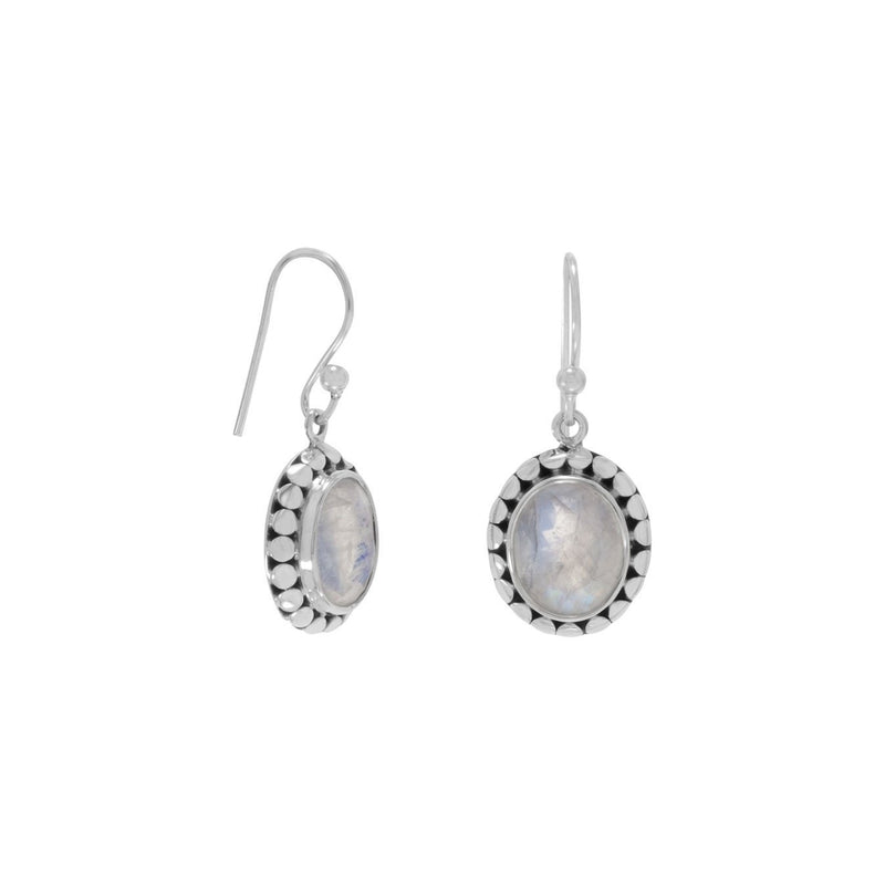 Rainbow Moonstone Sterling Silver Earrings - deelytes-com