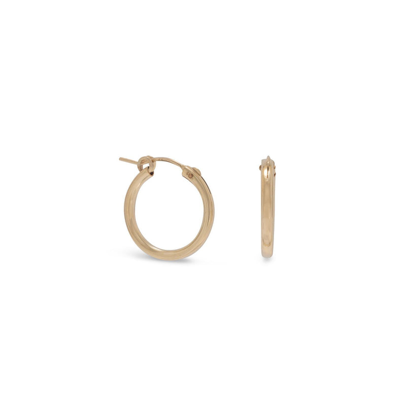 12/20 Gold 2mm x 19mm Hoops - deelytes-com