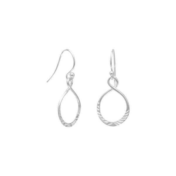 Diamond Cut Sterling Silver Drop Earrings - deelytes-com
