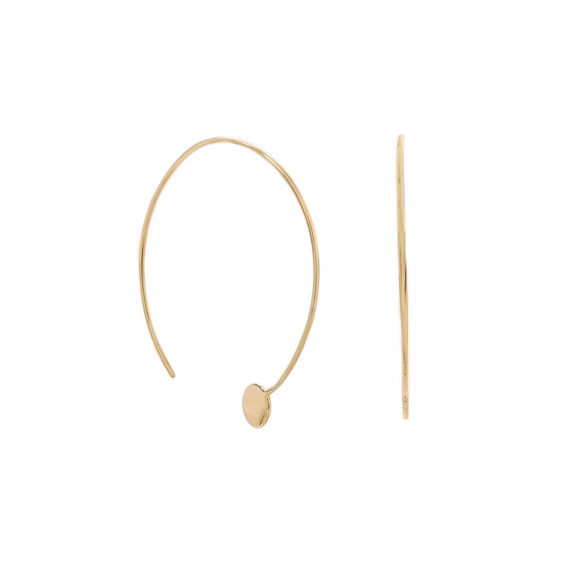 Gold Threader Dot End Earrings - deelytes-com