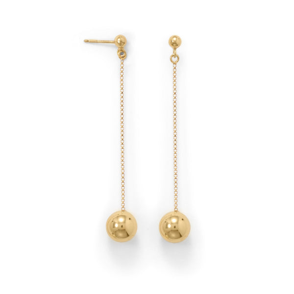 Gold Bead Drop Earrings - deelytes-com