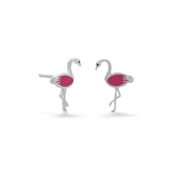 Pink Flamingo Earrings - deelytes-com