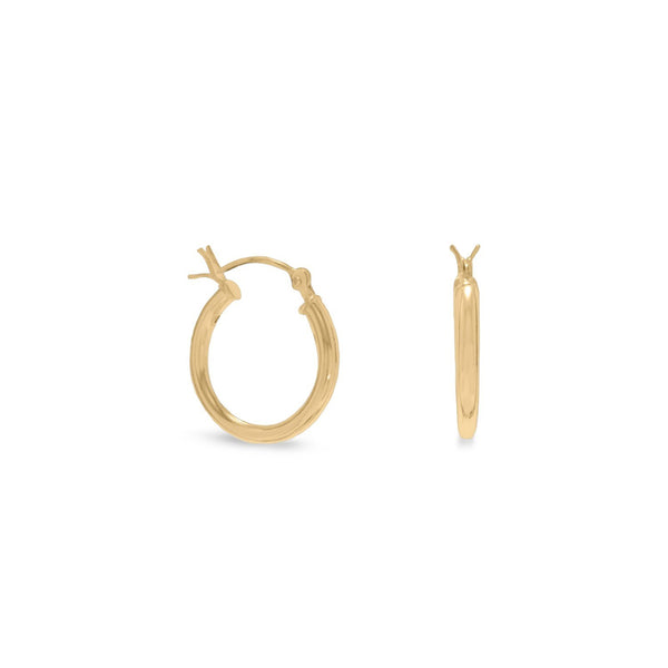 2mm x 16mm Gold Plated Click Hoop - deelytes-com