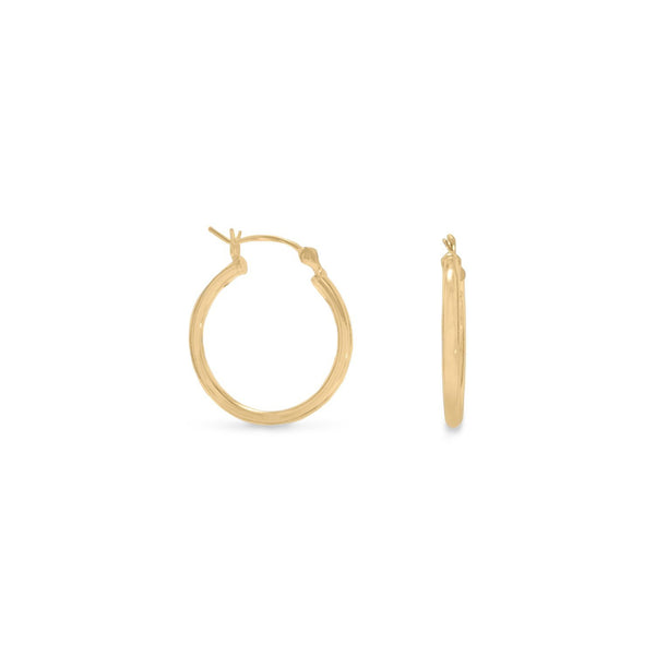 2mm x 20mm Gold Plated Click Hoop - deelytes-com