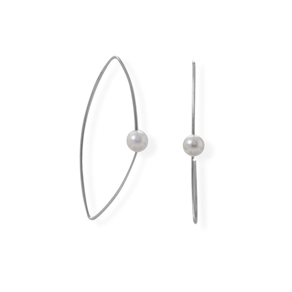 Imitation Pearl Illusion Wire Earrings - deelytes-com