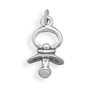 Pacifier Charm 925 Sterling Silver - deelytes-com