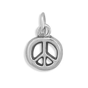 Peace Symbol Charm 925 Sterling Silver - deelytes-com