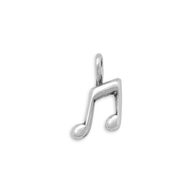Musical Notes Sterling Silver Charm - deelytes-com