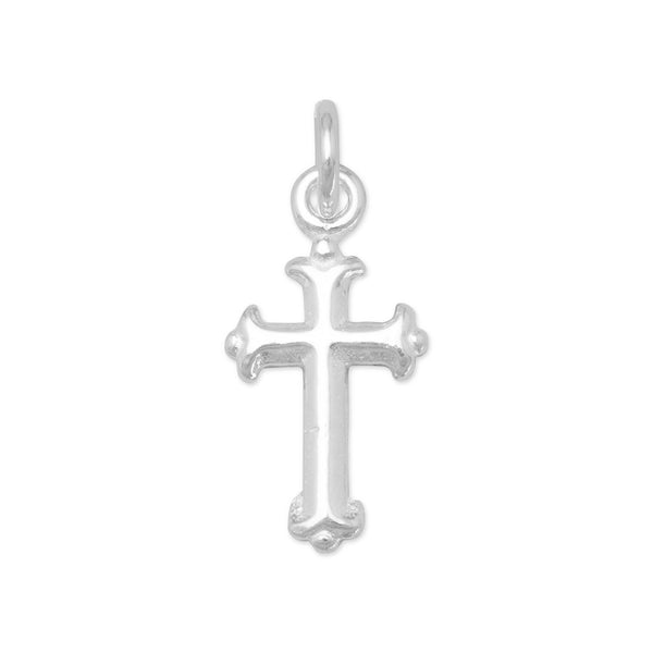 Extra Small Silver Cross Charm Sterling Silver - deelytes-com