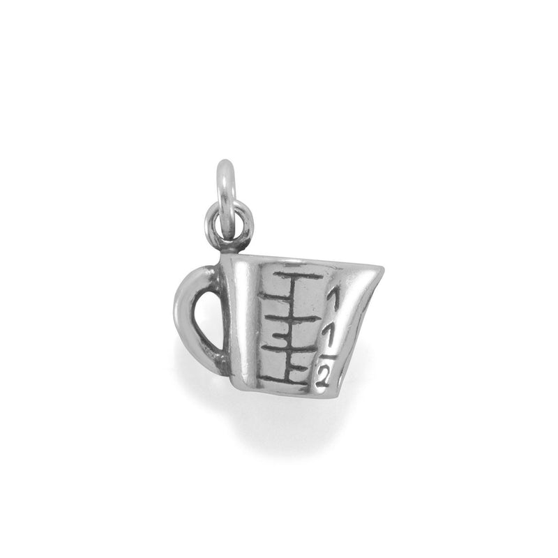 Measuring Cup Sterling Silver Charm - deelytes-com