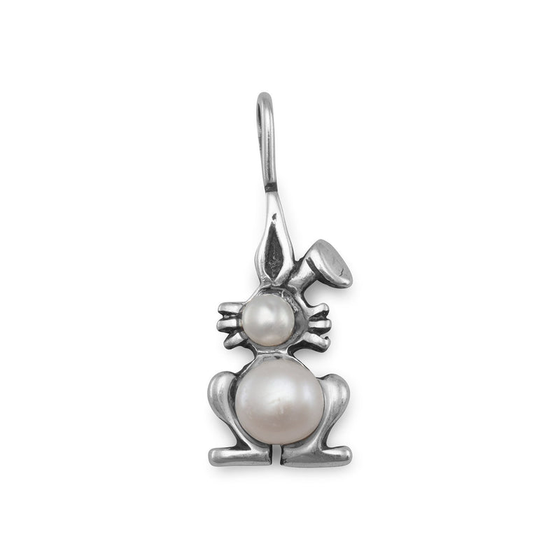 Cultured Freshwater Pearl Bunny Pendant - deelytes-com