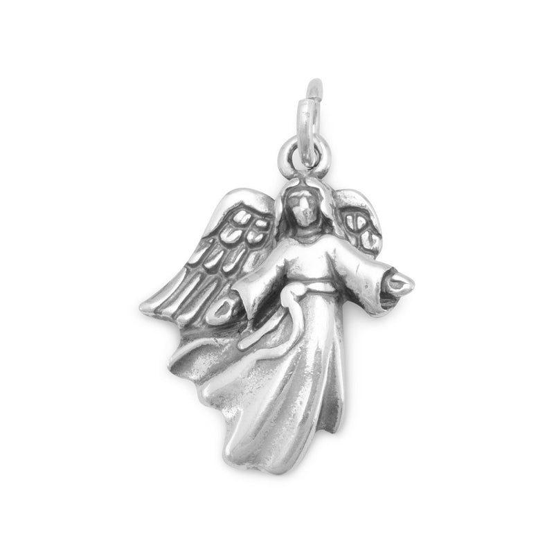 Angel with Open Arms Charm Sterling Silver - deelytes-com