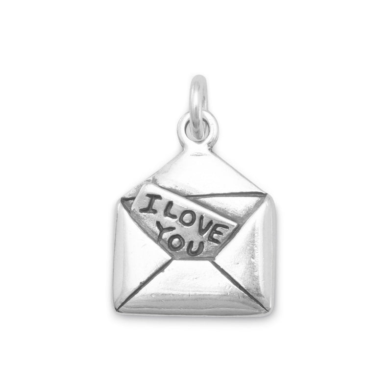 I Love You Letter Sterling Silver Charm - deelytes-com