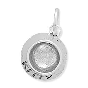 Kitty Food Dish Charm Sterling Silver - deelytes-com