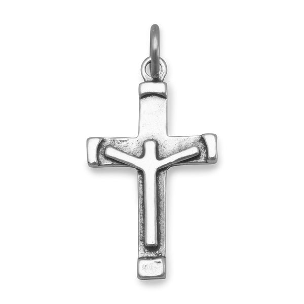 Crucifix Charm Sterling Silver - deelytes-com
