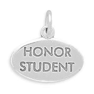 Honor Student Sterling Silver Charm - deelytes-com