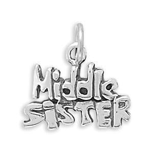 Middle Sister Sterling Silver Charm - deelytes-com