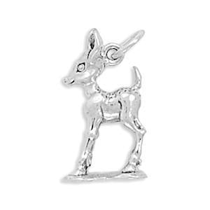 Fawn Charm Sterling Silver - deelytes-com