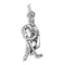 Hockey Player Sterling Silver Charm - deelytes-com