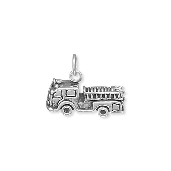 Fire Truck Charm Sterling Silver - deelytes-com