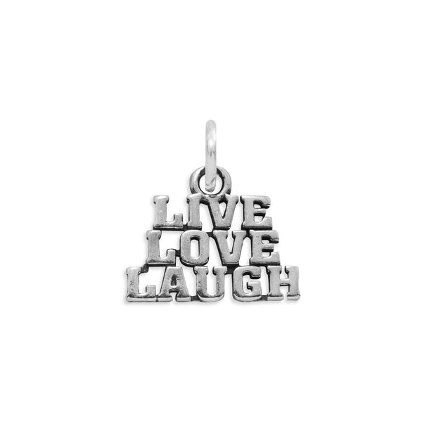 Live Love Laugh Sterling Silver Charm - deelytes-com