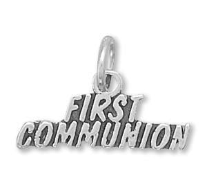 First Communion Charm Sterling Silver - deelytes-com