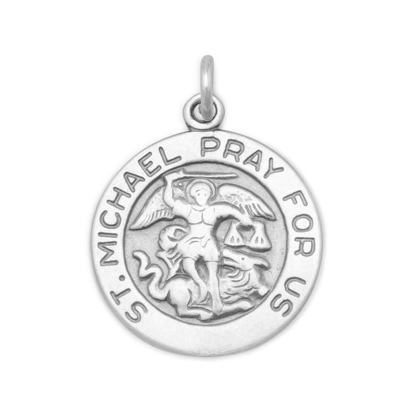 St. Michael Charm Sterling Silver - deelytes-com