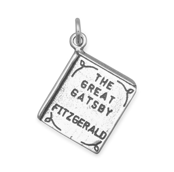 The Great Gatsby Sterling Silver Book Charm - deelytes-com
