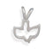 Cut Out Dove Sterling Silver Pendant - deelytes-com