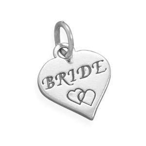 Bride with Hearts Charm Sterling Silver - deelytes-com
