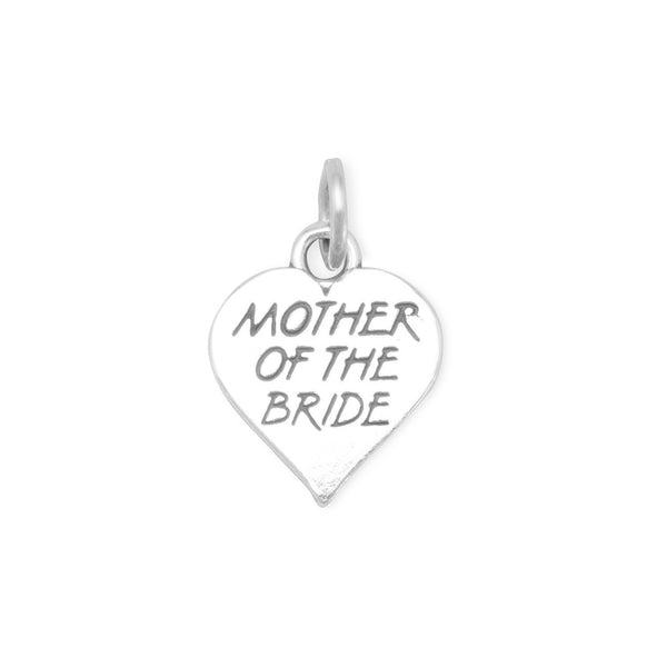 Mother of the Bride Sterling Silver Charm - deelytes-com