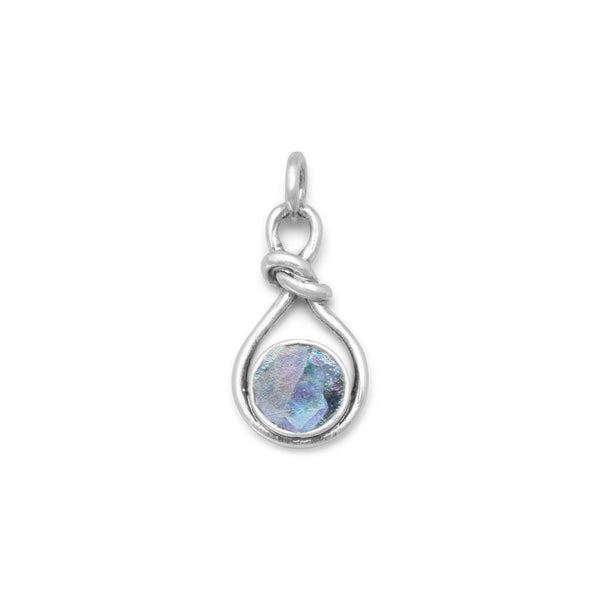 Roman Glass Knot Style Sterling Silver Pendant - deelytes-com