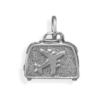 Suitcase Sterling Silver Charm - deelytes-com