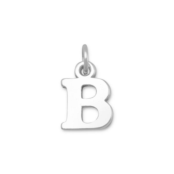 Greek Alphabet Letter Charm - Beta Sterling Silver - deelytes-com