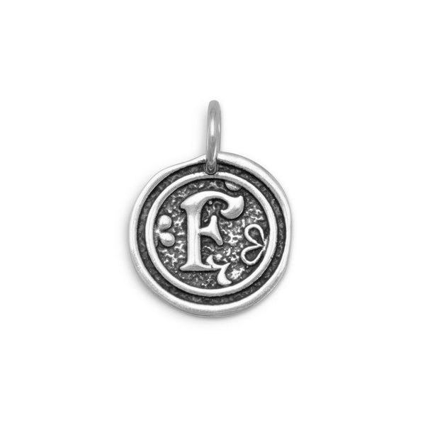 "Initial ""F"" Pendant 925 Sterling Silver - deelytes-com"