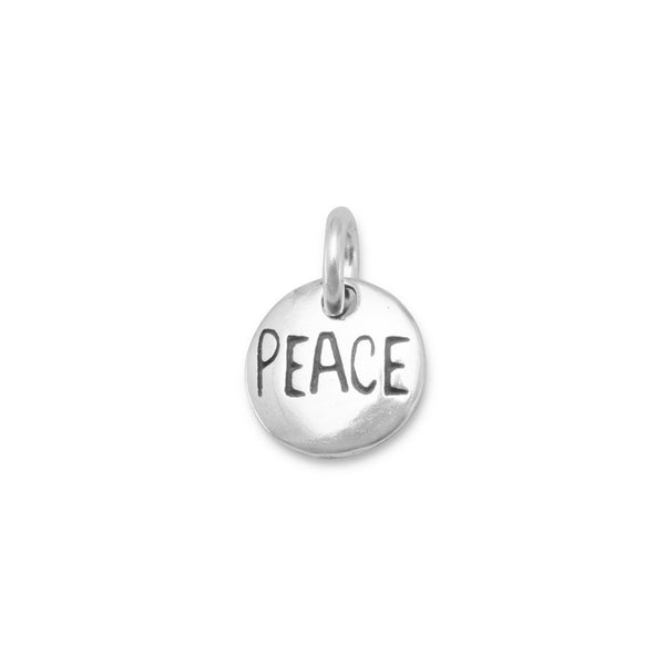 """Peace"" Sterling Silver Charm - deelytes-com"