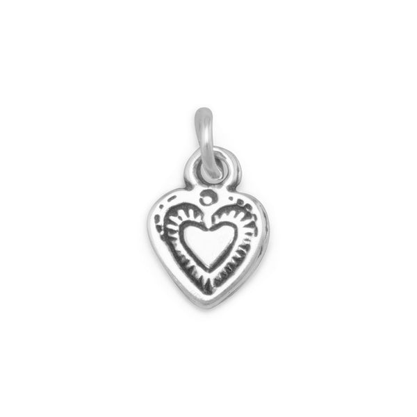 Heart Sterling Silver Charm - deelytes-com