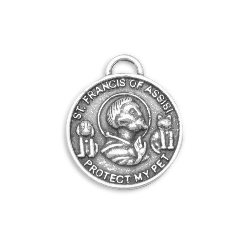 St. Francis of Assisi Sterling Silver Charm - deelytes-com