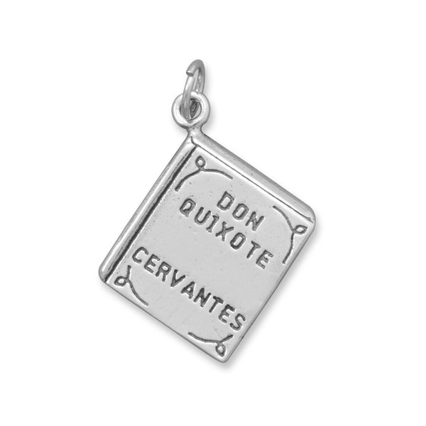 Don Quixote Sterling Silver Book Charm - deelytes-com