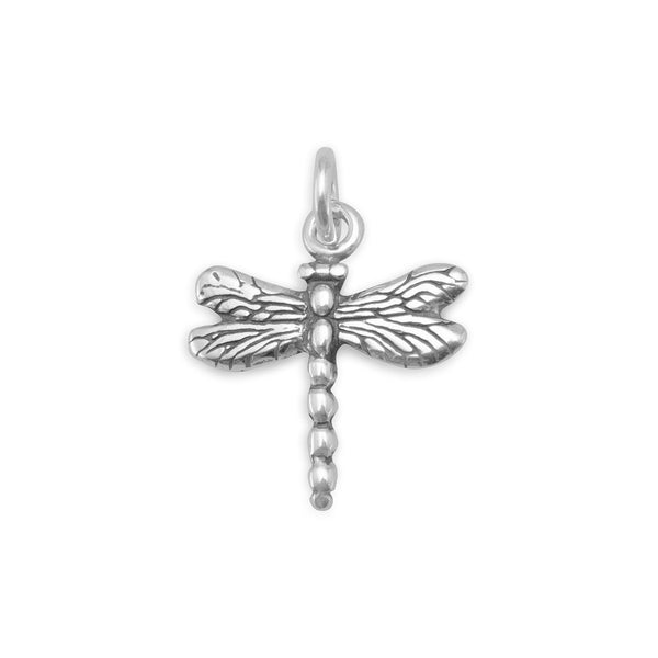 Dragonfly Sterling Silver Charm - deelytes-com