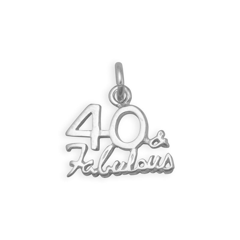 40 & Fabulous Charm Sterling Silver - deelytes-com